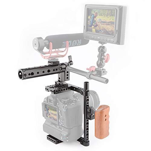 LFTS DSLR-Kamerakäfig-Oberteil mit Holzgriff Oberteil kann verlängert Werden, und DY bietet eine große Anzahl von 1/42