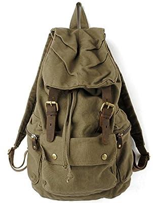 Cooler sac à dos en cuir et toile/sac à dos camping et randonnée/sac à dos ordinateur-sac unisexe