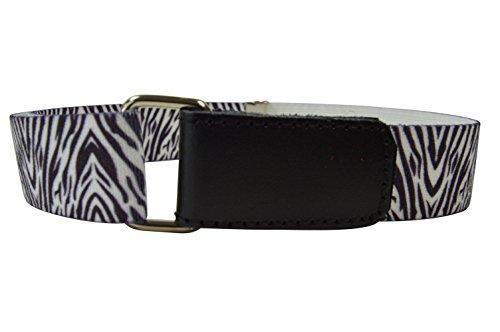 Olata Cinturón Elástico para los Niños/Niñas 1-6 Años, Hook y Loop Fijación con Impreso Diseño. Cebra