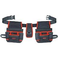 Connex COX952056 - Cinturón de herramientas (2 bolsillos de 8 compartimentos)