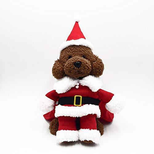 Trendy Weihnachten Pet Kleidung Bequeme Baumwollhemd mit Hut Weihnachtsmann Pet Dog Coat Kostüm Kleid für Winter - Red M Trendy Winter Coats