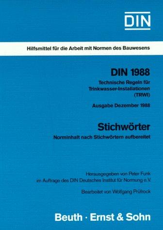 DIN, Hilfsmittel für die Arbeit mit Normen des Bauwesens, DIN 1988, Stichwörter