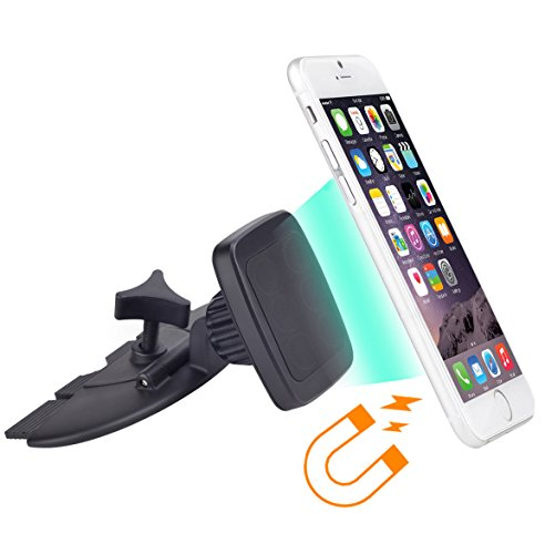 APPS2CAR-Universal-Magnetic-360-Degree-Magnet-CD-Slot-Car-Mount-Holder-for-iPhone-Samsung-Galaxy-All-Smartphones-Cell-Phone-Mini-Tablets-GPS-Black