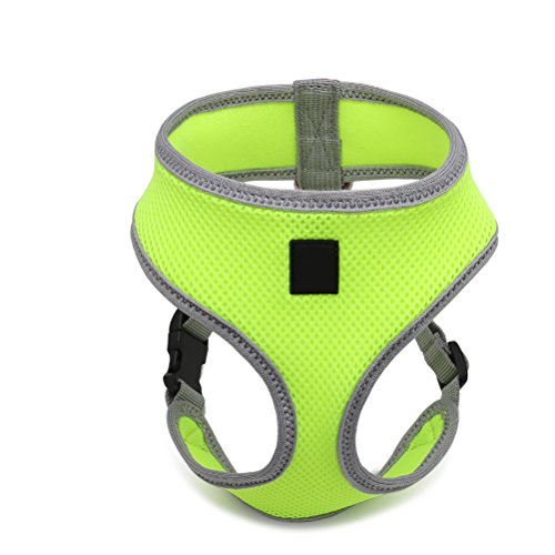 UEETEK Dog Harness Pet Breast Harness Safety Strap Vest Leash for Dogs – Size M (Fluorescent Green)