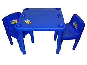 Kiddy Activity Table and 2 Chair Set Blue