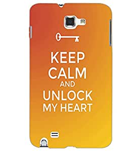 SAMSUNG GALAXY NOTE 1 KEEP CALM Back Cover by PRINTSWAG