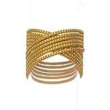 Twisted Glamour bracelet lt.topaz by Crystallized