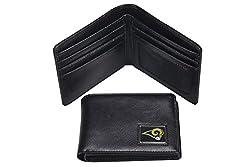 NFL St. Louis Rams Men's Leather RFiD Safe Travel Wallet, 4.25 x 3.25