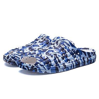 Slippers & amp da uomo;Pelle Nappa Estate Comfort Outdoor piani del tallone sandali Walking sandali US9.5 / EU42 / UK8.5 / CN43