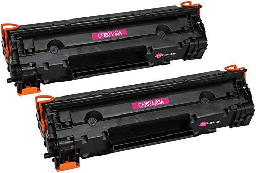 2 INK INSPIRATION® Premium Toner kompatibel für HP CF283A 83A Laserjet Pro M201dw M201n MFP M125nw M125a M127fn M127fw M225dn M225dw | 1.500 Seiten (Hp-drucker M125a)