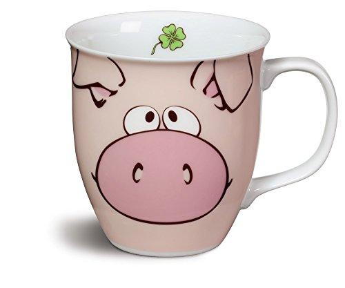 Nici-39149-Porcelana-Taza-con-Comic-de-cerdos-color-rosa