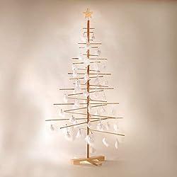 Xmas3 L Albero di Natale in Legno Naturale, 100x100x190 cm