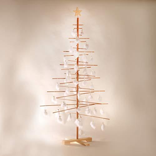 xmas3 L - 190 cm Weihnachtsbaum aus Holz, Natural, 100 x 100 x 190 cm