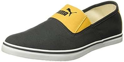Puma Men's New Vulc Slip On Dark Grey and Yellow Boat Shoes - 10 UK/India (44.5 EU) (36449704)