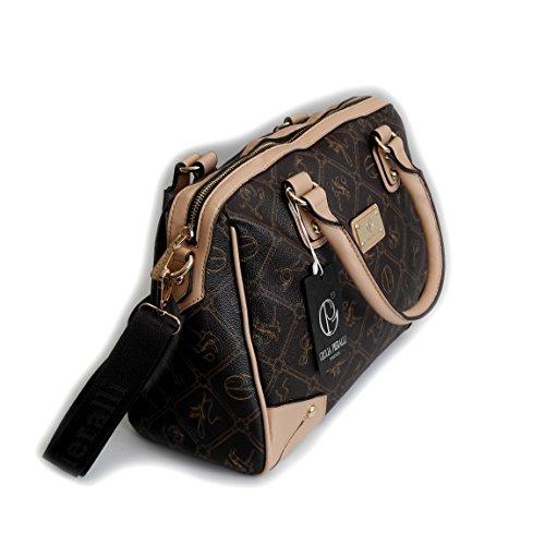 Giulia Pieralli Donna Glamour Borsa A Mano Borsa Donna Borsa manico borsa a spalla borsa a tracolla präsentiert von ZMOKA®, Coffeebeige (marrone) - 0 Coffeebeige