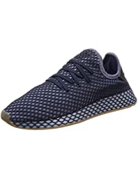 new product 2fe28 663b3 adidas Originals Deerupt Runner, Dark Blue-Dark Blue-Ash Blue