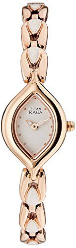 Titan Raga Analog White Dial Womens Watch - 2012WM02