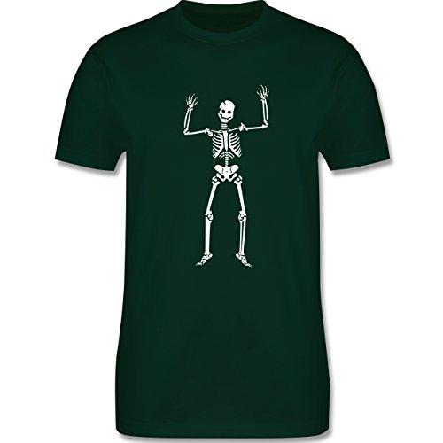 Halloween - Skelett Skeleton - Herren Premium T-Shirt Dunkelgrün