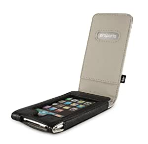 Proporta Aluminium Lined Leather Case (Apple 2G iPod touch) - Black