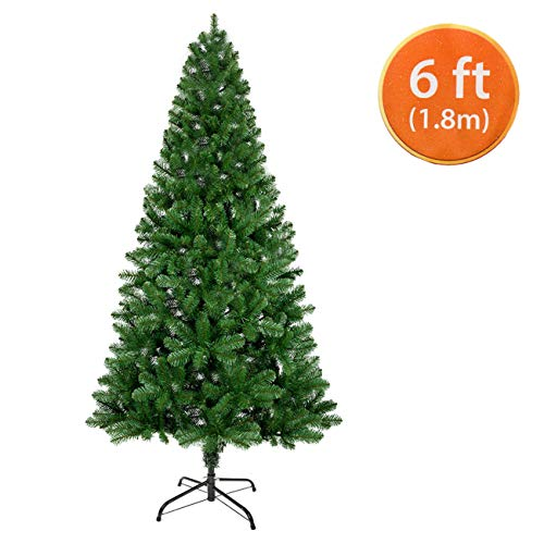 ANSIO Christmas Tree 6ft / 1.8m Artificial Trees 550 Virgin PVC Tips Metal Stand Economy