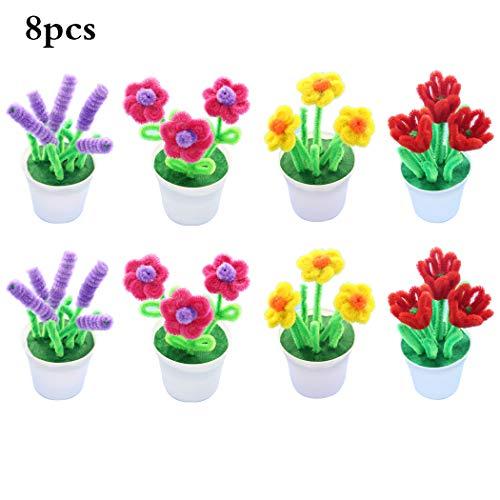 FunPa 8 Sets DIY Bastelset Schöne gefälschte Pflanze Handmade Bastelset für den Tag des ()