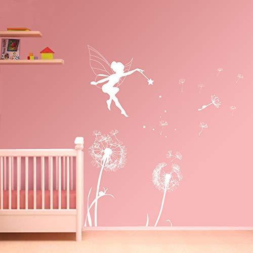 ufengke Pegatinas de Pared Hada del Diente de León Vinilos Adhesivos Pared Decorativos para Dormitorio Habitación Infantiles Niñas Bebés