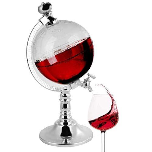 VATRIO Decantador en Forma, dispensador de Licor de 1.5L para Bourbon, Scotch, Brandy, Whisky o Ron, Regalo de decoración de la Barra del hogar