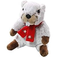 Carl Dick Peluche - Marmota con Bufanda (Felpa, 20cm) [Juguete] 3441