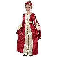 Regal Red Princess - Disfraz para niños (5-7 años)