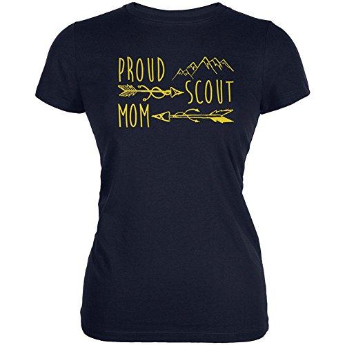 Stolz Scout Mom Gold Juniors Soft T-Shirt Navy SM (T-shirt Juniors Stolz)