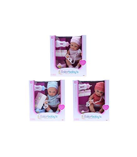 Color Baby- Muñeco Bebé con Sonidos, Multicolor (43781)