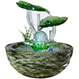 LSHUAIDJ Acuario Oficina decoración Fuente de distribución de Agua de Transferencia Bola de Loto Hoja Creativo