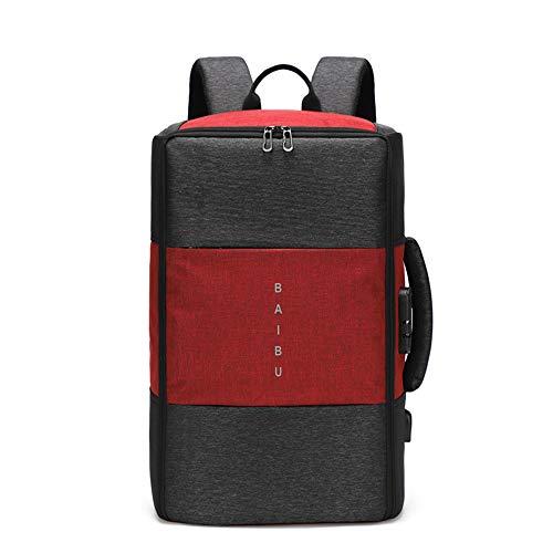TnXan Men Backpack High capacity 15.6 17 inch Laptop Backpack Multifunction USB Charging Travel Bag Unisex Casual Backbag