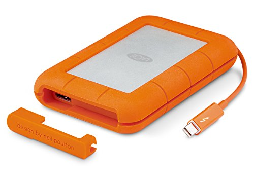 Lacie STEV2000400 Externe Tragbare Festplatte, Rugged Thunderbolt 2 TB for Mac - Orange