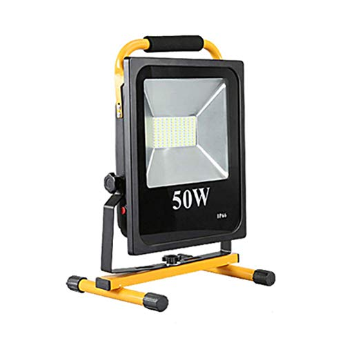 50W LED Wieder aufladbare BAU-Flut-Beleuchtung, 5000LM super helle Arbeits-Flut-Lichter imprägniern, tragbare Flut-Beleuchtung im Freien, Batterie 8000mAh