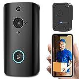 Teepao M11 Wireless Video Doorbell, WiFi Smart Intercom Monitoring Doorphone System, HD Security