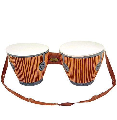 Islander Fashions aufblasbare Bongo Drums mit Strap afrikanische Kost�m Dekoration Beach Party Fun One Size