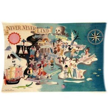 Trendsetter federa Neverland Peter Pan personalizzata federa cuscino federa cuscino 20x 36(due lati)