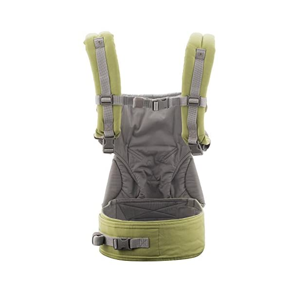 Ergobaby baby carrier collection 360 (5.5 - 15 kg), Green Ergobaby 4 ergonomic wearing positions: front-inward, front-outward, hip and back carry Structured bucket seat keeps baby seated in the anatomically correct frog-leg position Exceptionally comfortable thanks to adjustable, extra-wide waistband to support the lower back 4