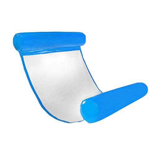 CampHiking Swimming-Pool-Hängematte, aufblasbare Schwimmbecken-Liege fürs Schwimmbad, Liege, Stuhl, faltbar, kompakte und tragbare Matte für Erwachsene und Kinder mit kleiner Pumpe, saphir - Tragbare Hängematte Faltbare