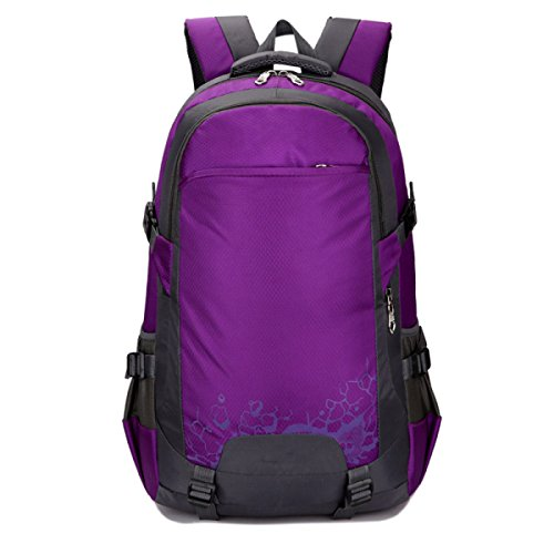 OGERT Esterno Di Viaggio Di Grande Capacità Posteriore Impermeabile Alpinismo Zaino,Green Purple