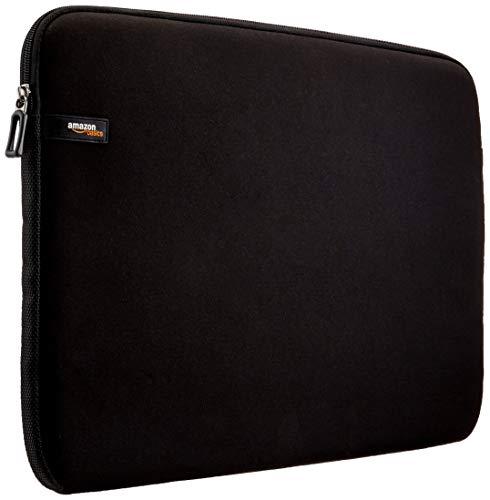 AmazonBasics Laptop-Schutzhülle, für eine Bildschirmdiagonale von 44cm (17,3Zoll), Schwarz