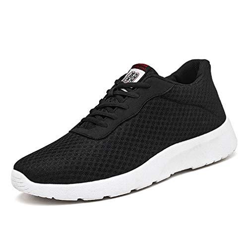 WL Scarpe da ginnastica sportive da uomo, Casual Antiscivolo Fitness Respirabile Mesh Lace Up Sneakers pour Outdoor Running,blackmale,41