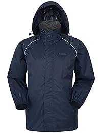 05427759d Mountain Warehouse Pakka Mens Waterproof Packable Jacket - Foldaway Hood  Jacket, High Vis Mens Coat