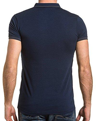 BLZ jeans - Polo Mann Marine gemustert Blau