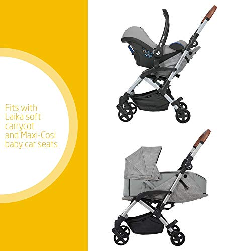 Maxi Cosi Laika 2 Baby Pushchair, Ultra Compact and Lightweight Stroller from Birth, Easy Fold, 0 Months-3.5 Years, 0-15 kg, Nomad Grey
