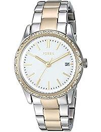 470e18682350 Fossil  Adalyn  BQ3376 - Reloj de Cuarzo para Mujer (Acero Inoxidable