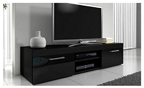 home-source-black-gloss-tv-unit-led-lights-television-cabinet-remote-control-2-door-large