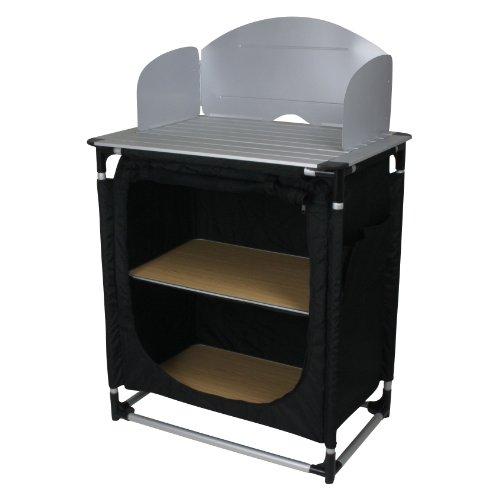 10T - Cucina da Campeggio camKITCHEN, 75 x 53 x 117 cm, Colore: Nero