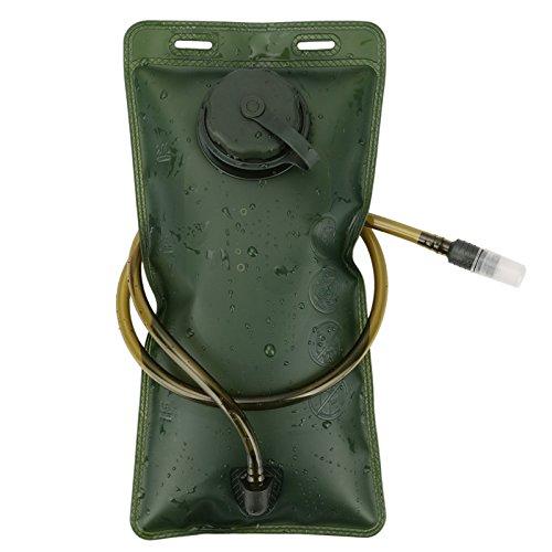 Godea Outdoor Wasser Flasche Tasche 2L Hydratation Wasser Tasche für Camping Wandern Radfahren, Unisex, grün, Einheitsgröße